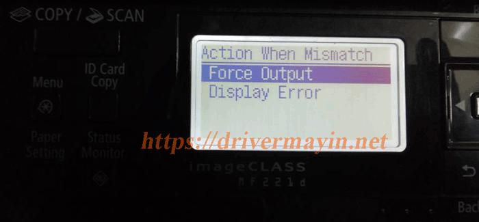 Cách Tắt Chế Độ Kiểm Tra Giấy Máy in Canon MF221D, MF229