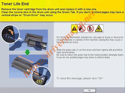 Cách reset mực máy in Brother HL L2321D, L2361DN, L2366DW