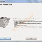 Cách Sửa lỗi 52.0 Scanner Error, Engine scanner Error ở Máy in Hp