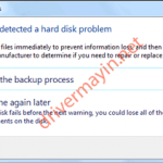 Sửa lỗi Windows detected a hard disk problem