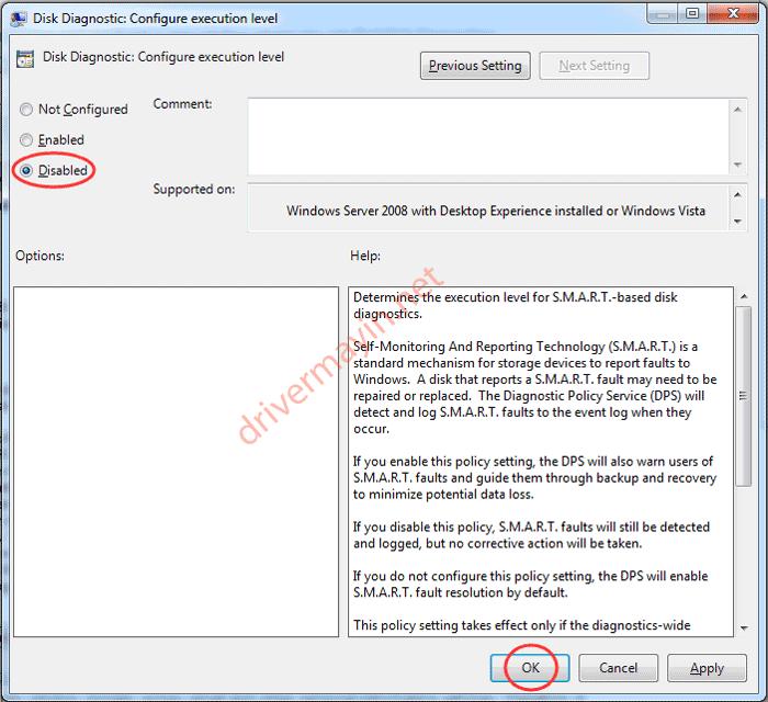 tắt thông báo lỗi Windows detected a hard disk problem