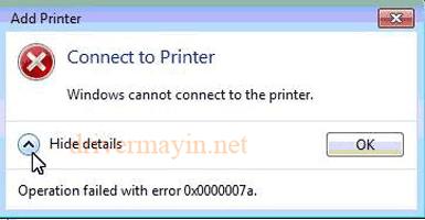 Sửa lỗi Windows không kết nối được máy in 2