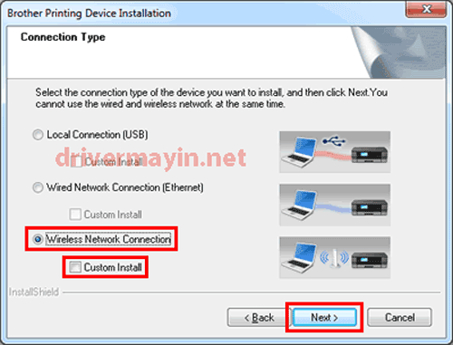 Cách cài máy in Brother MFC L2701DW qua mạng Wifi 4
