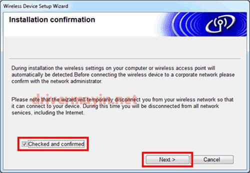 Cách cài máy in Brother MFC L2701DW qua mạng Wifi 10