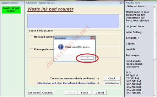 Cách reset tràn bộ đếm máy in Epson Bằng Adjustment Program 12
