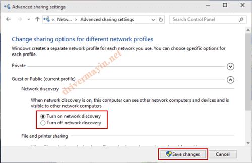 Cách sửa lỗi không kích hoạt được Network Discovery ở windows