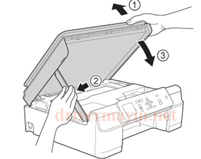 Sửa lỗi Paper Jam Brother T300 và cách lấy giấy kẹt. 20