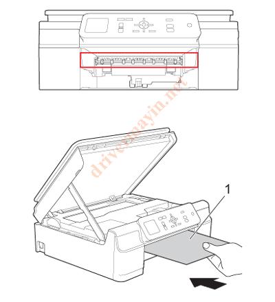 Sửa lỗi Paper Jam Brother T300 và cách lấy giấy kẹt. 8
